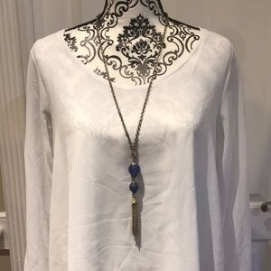 Jewelry - Vintage Blue and Silver with Tassels with Necklace